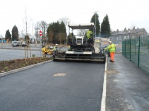 Tarmac laying to car park in Keighley, West Yorkshire