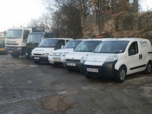 Fleet of vehicles within our tarmac surfacing company in Bradford, Leeds, West Yorkshire and surrounding areas