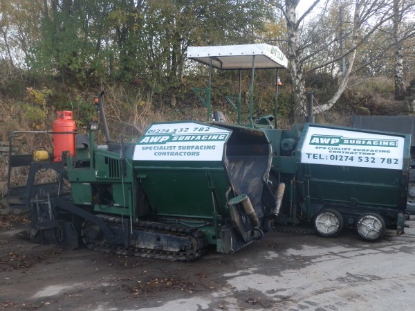 Tarmac paving machines ready for hire in Bradford, Leeds, West Yorkshire and surrounding areas
